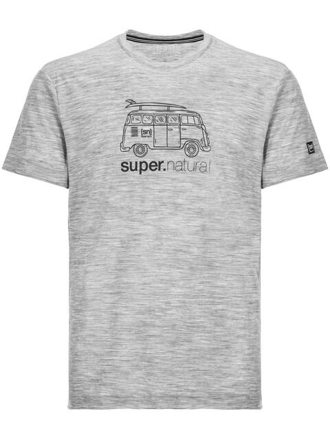 super.natural Graphic Tee 140 Men Ash Melange/Van Print